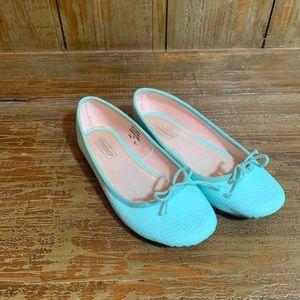 Topshop Ballet Flats Mint Green